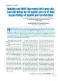 Nghiên cứu thiết lập mạng lưới cung cấp, trao đổi thông tin về nguồn gen và tri thức truyền thống về nguồn gen tại Việt Nam
