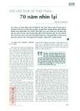 Thể chế kinh tế Việt Nam: 70 năm nhìn lại