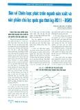 Bàn về chiến lược phát triển ngành sản xuất và sản phẩm chủ lực quốc gia thời kỳ 2011 - 2020