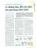 Mô hình tăng trưởng hiện nay và những thay đổi cần thiết cho giai đoạn 2012 - 2015
