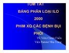 Bài giảng Tóm tắt bảng phân loại ILO 2000 phim XQ các bệnh bụi phổi
