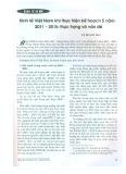 Kinh tế Việt Nam khi thực hiện kế hoạch 5 năm 2011 - 2015: Thực trạng và vấn đề