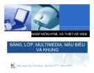 Bài giảng Nhập môn HTML và thiết kế Web: Bài 4 - Bảng, lớp, Multimedia, mẫu biểu và khung