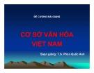 Đề cương bài giảng Cơ sở văn hóa Việt Nam: Bài 1 - Một số khái niệm cơ bản