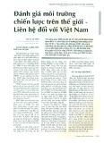 Đánh giá môi trường chiến lược trên thế giới - Liên hệ đối với Việt Nam