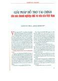 Giải pháp hỗ trợ tài chính cho các doanh nghiệp nhỏ và vừa của Việt Nam