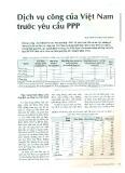 Dịch vụ công của Việt Nam trước yêu cầu PPP