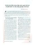 Vai trò của đầu tư trực tiếp nước ngoài đối với chuyển dịch cơ cấu công nghiệp Việt Nam