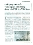 Giải pháp thúc đẩy và nâng cao chất lượng dòng vốn FDI vào Việt Nam