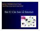 Bài giảng Tin học căn bản & văn phòng: Chương 8 - Căn bản về Internet