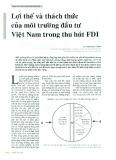 Lợi thế và thách thức của môi trường đầu tư Việt Nam trong thu hút FDI