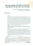 Phản ứng trong hành vi tiết kiệm và cơ cấu chi tiêu hộ gia đình Việt Nam khi có sốc vĩ mô về thu nhập