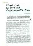 Hệ quả vĩ mô của chính sách công nghiệp ở Việt Nam