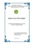 Khóa luận tốt nghiệp Hệ thống thông tin địa lý: Ứng dụng GIS trong quản lý nước tại Quản Lộ Phụng Hiệp