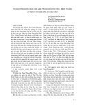 Tài nguyên nước mùa cạn Nam Trung bộ (Phú Yên – Bình Thuận) và nguy cơ hạn hán, sa mạc hóa