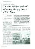 Cụm liên kết ngành: Từ kinh nghiệm quốc tế đến công tác quy hoạch tại Việt Nam