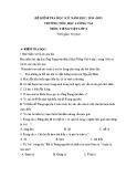 Đề thi học kì 1 môn Tiếng Việt lớp 4 năm 2014-2015 - Trường Tiểu học Lương Tài