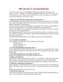 100 câu hỏi về các loại hình học