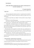 Những biểu hiện về phẩm chất đặc trưng thanh lịch của người Hà Nội hiện nay - TS. Nguyễn Thị Kim Hoa