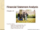 Lecture Financial accounting (15/e) - Chapter 14: Financial statement analysis