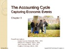 Lecture Financial accounting (15/e) - Chapter 3: The accounting cycle - Capturing economic events