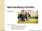 Lecture Financial accounting (15/e) - Chapter 6: Merchandising activities