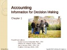 Lecture Financial accounting (15/e) - Chapter 1: Accounting - Information for decision making