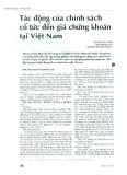 Tác động của chính sách cổ tức đến giá chứng khoán tại Việt Nam