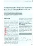 Tác động của kinh tế vĩ mô đến nguồn vốn huy động của các ngân hàng thương mại tại Việt Nam