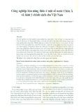 Công nghiệp hóa nông thôn ở một số nước châu Á và hàm ý chính sách cho Việt Nam