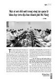 Một số nét đổi mới trong công tác quản lý khoa học trên địa bàn thành phố Đà Nẵng