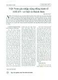 Việt Nam gia nhập Cộng đồng Kinh tế ASEAN - Cơ hội và thách thức