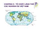 Bài giảng Chương 5: Tổ chức lãnh thổ các ngành SX Việt Nam