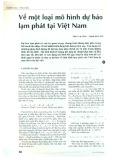 Về một loại mô hình dự báo lạm phát tại Việt Nam