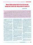 Hoàn thiện pháp luật về xử lý nợ xấu trong bối cảnh hội nhập kinh tế quốc tế