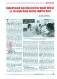 Quản trị danh mục cho vay theo ngành kinh tế tại các ngân hàng thương mại Việt Nam