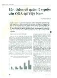 Bàn thêm về quản lý nguồn vốn ODA tại Việt Nam