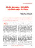 Xóa đói, giảm nghèo ở tỉnh Nghệ An - Một số kinh nghiệm và giải pháp