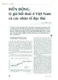 Biến động tỷ giá hối đoái ở Việt Nam và các nhân tố đặc thù