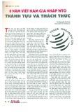 8 năm Việt Nam gia nhập WTO thành tựu và thách thức