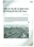 Một số vấn đề về phát triển hệ thống đô thị Việt Nam