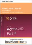 Ebook Access 2010: Part 3