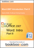 Ebook Word 2007 Introduction: Part 2