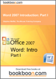 Ebook Word 2007 Introduction: Part 1