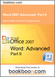 Ebook Word 2007 advanced: Part 2