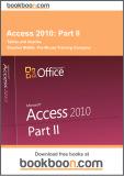 access 2010: part 2