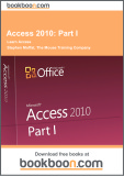 Ebook Access 2010: Part 1