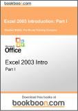Ebook Excel 2003 introduction: Part 1