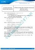 Đề thi học sinh giỏi môn Toán lớp 10 năm 2012-2013 - Trường THPT Nam Sách