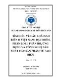 """Đồ án tốt nghiệp ngành Công nghệ chế biến thủy sản """"Tìm hiểu về các loài Sao biển ở Việt Nam: Đặc điểm, phân loại, phân bố, ứng dụng và công nghệ sản xuất các sản phẩm từ Sao biển"""""""
